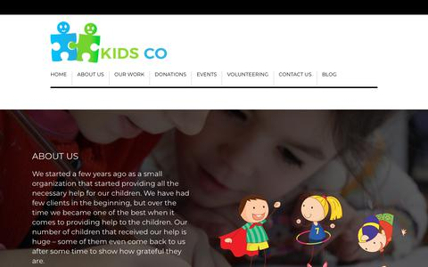 Screenshot of About Page kidsco.org.uk - About us - Kids Co - captured Sept. 23, 2018