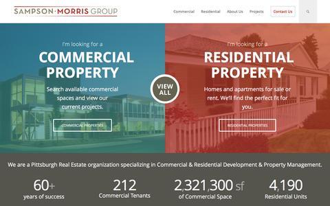 Screenshot of Home Page sampsonmorrisgroup.com - Home - Sampson Morris Group - captured May 25, 2017