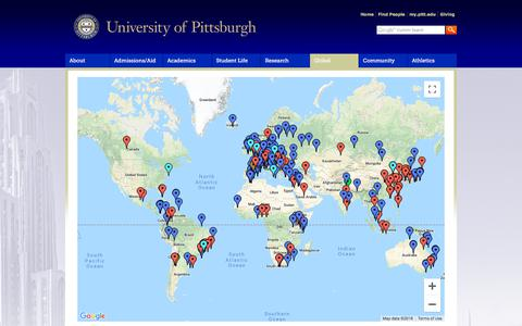 Screenshot of Maps & Directions Page pitt.edu - Map | University of Pittsburgh - captured Sept. 21, 2018