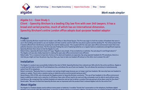 Screenshot of Case Studies Page algabe.com - Algabe Technology Limited | Adaptor Case Studies - captured Nov. 20, 2016