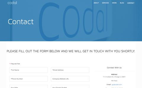 Contact Us – Codal