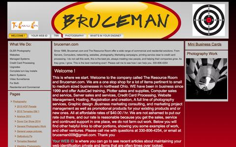 Screenshot of Home Page bruceman.com - Welcome ! - bruceman - captured Feb. 8, 2016
