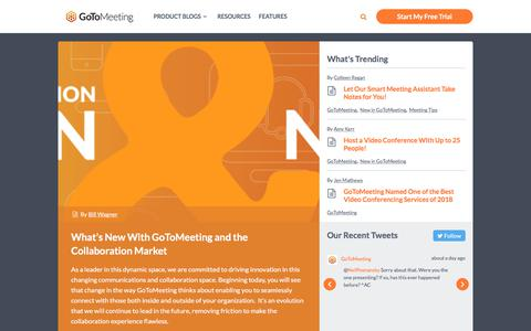 Screenshot of Blog gotomeeting.com - GotoMeeting - Find all the info you need to hold effortlessly productive online meetings, as well as other tips, from the team at GoToMeeting. - captured July 29, 2018
