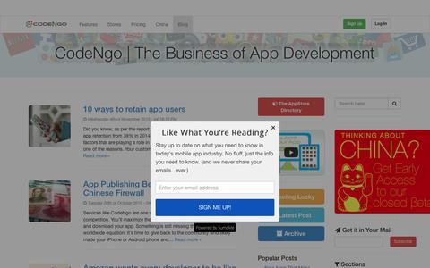 Screenshot of Blog codengo.com - CodeNgo   The Business of App Development - CodeNgo   The Business of App Development - captured Nov. 23, 2015