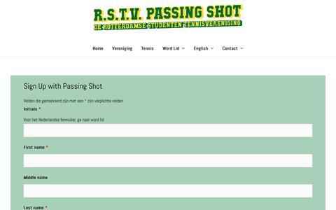 Screenshot of Signup Page passingshot.nl - Sign Up – Passing Shot - captured Nov. 15, 2018