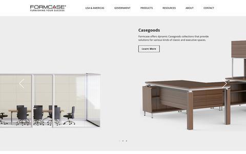 Screenshot of Home Page formcase.com - Formcase   Furnishing Your Success - captured Nov. 14, 2018
