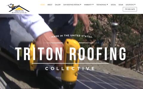Screenshot of Testimonials Page tritonroofing.com - Home - Triton Roofing - captured Feb. 25, 2016