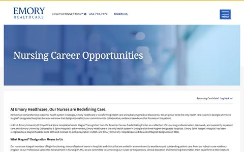Screenshot of Team Page icims.com - Emory | Careers Center | Welcome - captured Sept. 18, 2019