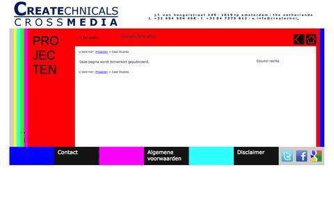 Screenshot of Case Studies Page createchnicals.nl - Createchnicals | Crossmediale oplossingen voor uw organisatie! - captured Oct. 3, 2014