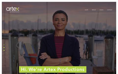 Screenshot of Home Page artexproductions.com - Artex Productions - A Miami Based Video Production Company - captured Oct. 17, 2019