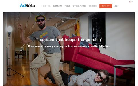 Screenshot of Team Page adroll.com - Meet the Team | AdRoll - captured Nov. 14, 2015