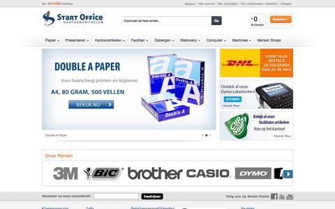 Screenshot of Home Page startoffice.nl - Kantoorartikelen - Online en goedkoop bestellen - Start Office - captured Sept. 30, 2014