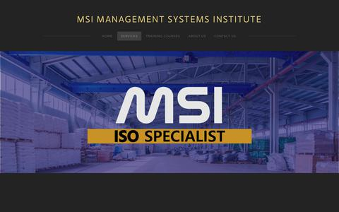 Screenshot of Services Page msiisos.com - Services - MSI MANAGEMENT SYSTEMS INSTITUTE - captured Nov. 12, 2018
