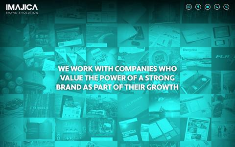 Screenshot of Home Page imajica.com - Imajica Brand Evolution :: Brand Consultancy Aberdeen - captured Oct. 6, 2014