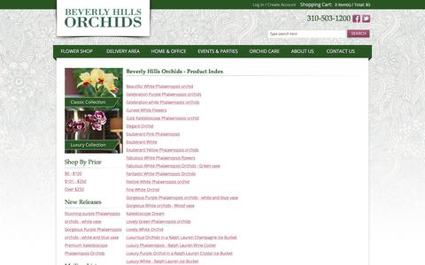 Screenshot of Products Page beverlyhillsorchids.com - Los Angeles Florist & Online Orchid Delivery | Beverly Hills Orchids - captured Aug. 2, 2018