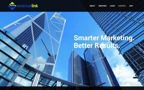 Screenshot of Home Page avenuelink.com - Avenue Link - captured Sept. 24, 2014