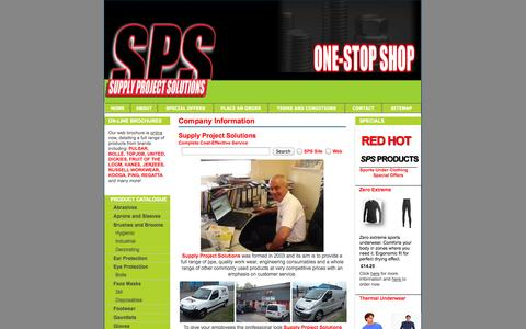 Screenshot of About Page supplyprojectsolutions.co.uk - Supply Project Solutions Cardiff - Company Information - captured Oct. 7, 2014
