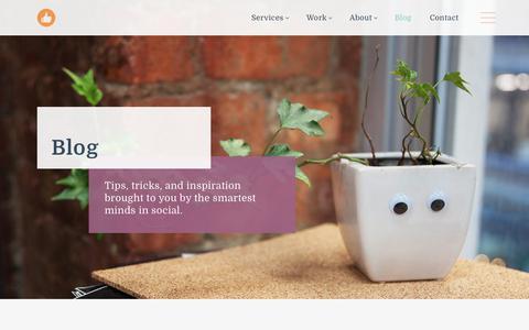 Screenshot of Blog likeable.com - Blog   Likeable - captured Jan. 15, 2018
