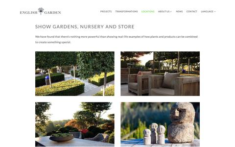 Screenshot of Locations Page englishgardengroup.com - Locations — English Garden - captured Nov. 8, 2016