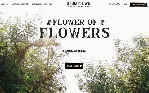 Screenshot of Home Page stumptowncoffee.com - Coffee Roasted Daily | Stumptown Coffee Roasters - captured June 13, 2018