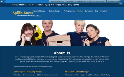 Screenshot of About Page space-saver.co.uk - Storage & Warehousing | Kent | Space Saver - captured Oct. 19, 2018
