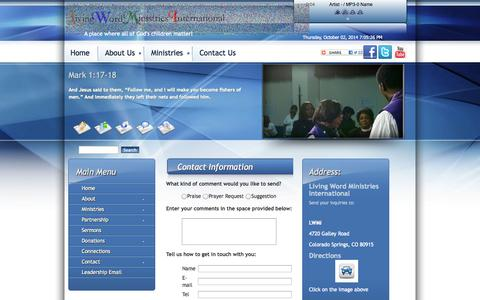 Screenshot of Contact Page Maps & Directions Page golwmi.org - Contact Us - captured Oct. 2, 2014