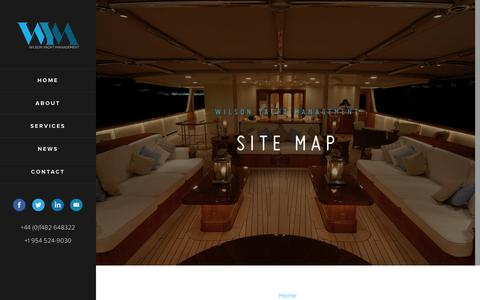 Screenshot of Site Map Page wilsonyachtmanagement.com - Contact Us - Wilson Yacht Management - captured Feb. 28, 2016