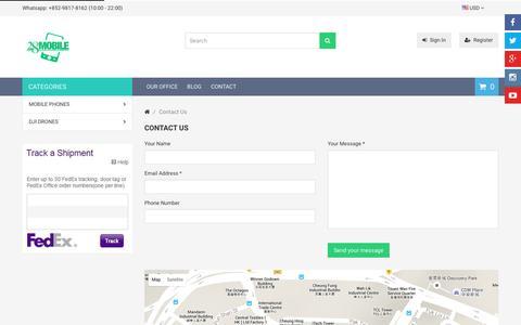 Screenshot of Contact Page 28mobile.com - Contact Us | 28Mobile Hong Kong - captured Jan. 18, 2016