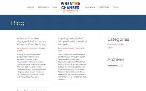 Screenshot of Blog wheatonchamber.com - Blog - Wheaton Chamber of Commerce - captured Oct. 12, 2019