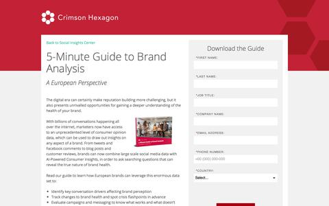 Screenshot of Landing Page crimsonhexagon.com - Campaign Analysis 5-minute Guide | Crimson Hexagon - captured Sept. 21, 2018