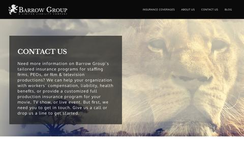 Screenshot of Contact Page barrowgroup.com - Contact Us   Barrow Group - Lawrenceville, GA Insurance Agency - captured Nov. 22, 2016