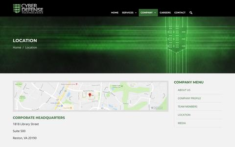 Screenshot of Locations Page cyberdefensetechnologies.com - Cyber Defense Technologies - Welcome to Cyber Defense Technologies - captured Nov. 5, 2018