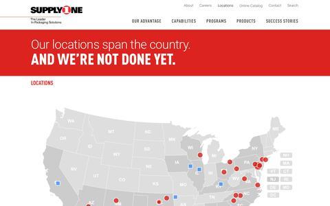 Screenshot of Locations Page supplyone.com - Locations | SupplyOne - captured Nov. 10, 2017