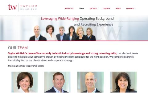 Screenshot of Team Page taylorwinfield.com - Our Team at Taylor Winfield - Executive Search - captured Dec. 14, 2016