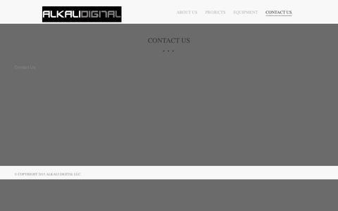 Screenshot of Contact Page missouriproductions.com - Contact Us � Alkali Digital - captured Jan. 10, 2016