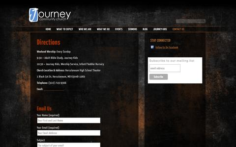 Screenshot of Contact Page jccwired.com - Contact Us «  Journey Community Church - captured Oct. 6, 2014