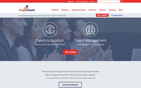 Talent Management Software   PeopleFluent