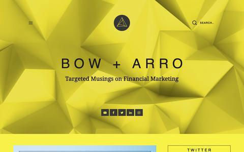 Screenshot of Blog arrocomm.com - BOW + ARRO - captured Oct. 4, 2018