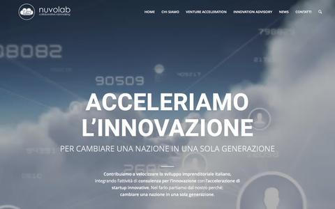 Screenshot of Home Page nuvolab.com - Nuvolab, venture accelerator e innovation advisor - captured May 11, 2017