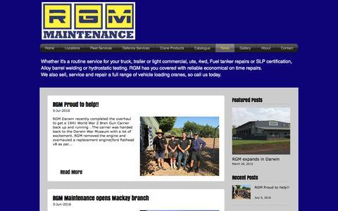 Screenshot of Press Page rgmmaintenance.com.au - rgmmaintenance   News - captured Nov. 30, 2016
