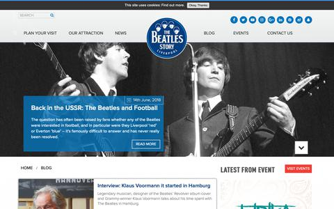 Screenshot of Blog beatlesstory.com - Blog | The Beatles Story, Liverpool - captured Oct. 20, 2018