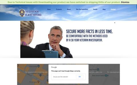 Screenshot of Contact Page thedeptwhathappened.com - Contact | The department of what happened - captured Oct. 12, 2018