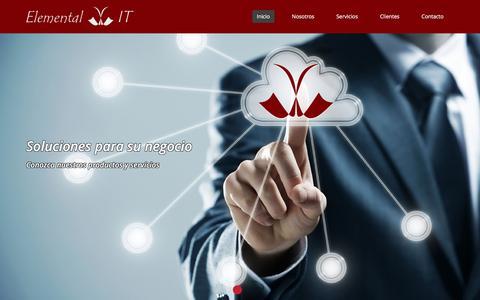 Screenshot of Home Page elementalit.com.ar - Inicio   Elemental-IT - captured Dec. 8, 2015