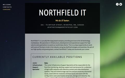 Screenshot of Jobs Page northfieldit.com - Careers — Northfield IT - captured Sept. 30, 2014