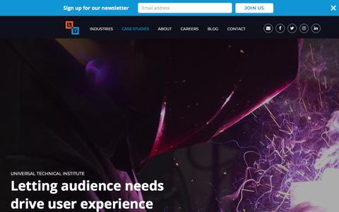 Screenshot of Case Studies Page laneterralever.com - Advertising Agency - Marketing Case Studies - LaneTerralever - captured Sept. 28, 2019