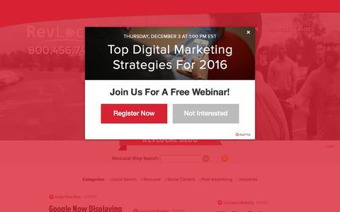 Screenshot of Blog revlocal.com - Local Marketing | RevLocal Blog - Page 1 - captured Nov. 21, 2015