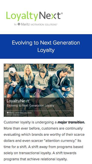 Evolving to Next Generation Loyalty