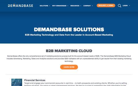 Account-Based Marketing – Demandbase | Solutions :: Account-Based Marketing – Demandbase