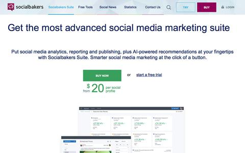 Screenshot of Pricing Page socialbakers.com - Buy Socialbakers Suite | Socialbakers - captured Sept. 18, 2017