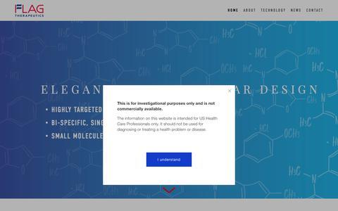 Screenshot of Home Page flagtherapeutics.com - Flag Therapeutics - captured Nov. 14, 2018